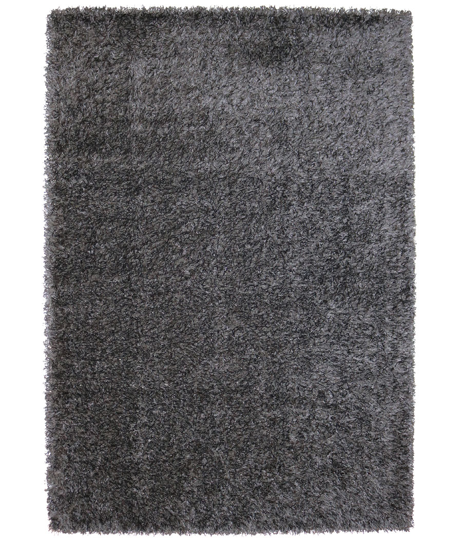 Alfombra m quina pelo largo de color negro 230 x 160 for Alfombra negra pelo largo