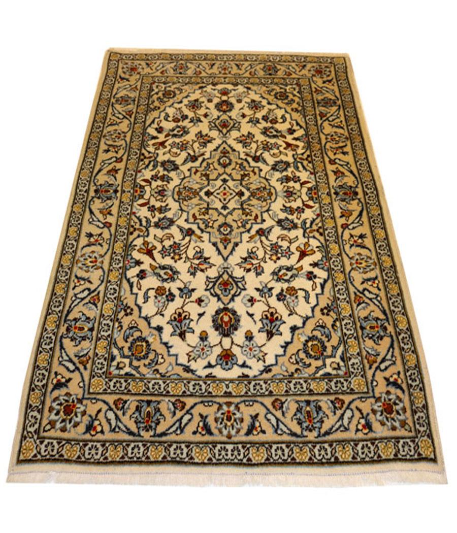 alfombra persa kashan hecha a mano y de lana 103 x 152