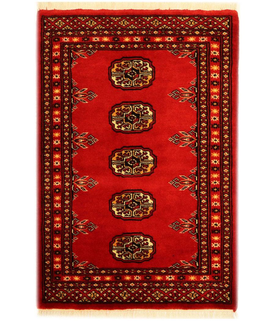 Alfombra bokhara pakistan de lana y hecha a mano alfopersia - Alfombras hechas a mano con lana ...