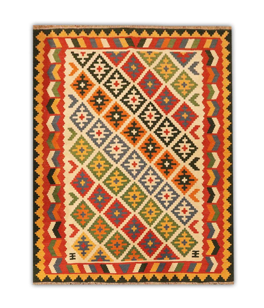 Kilim Persa Shiraz Qashqai De Lana Y Hecha A Mano N 649