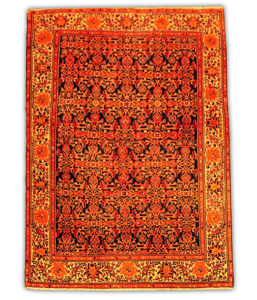 alfombra persa malayer antigua de lana y hecha a mano