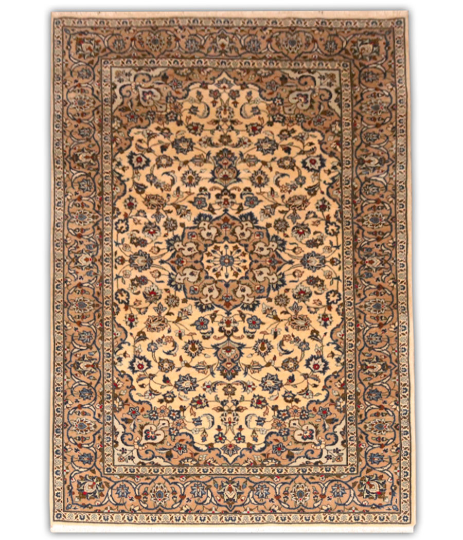 Alfombra persa kashan de lana y hecha a mano n 779 - Alfombras hechas a mano con lana ...