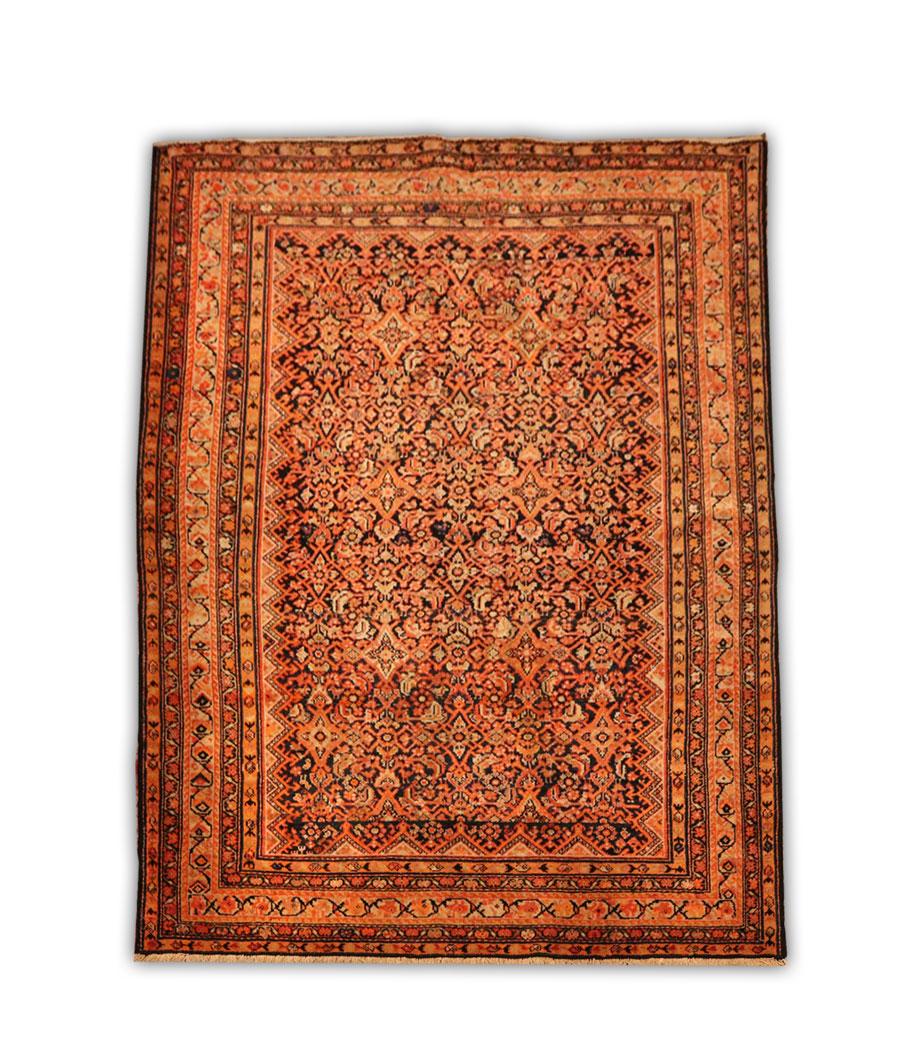 Alfombra persa malayer antigua hecha a mano y de lana for Tejido persa