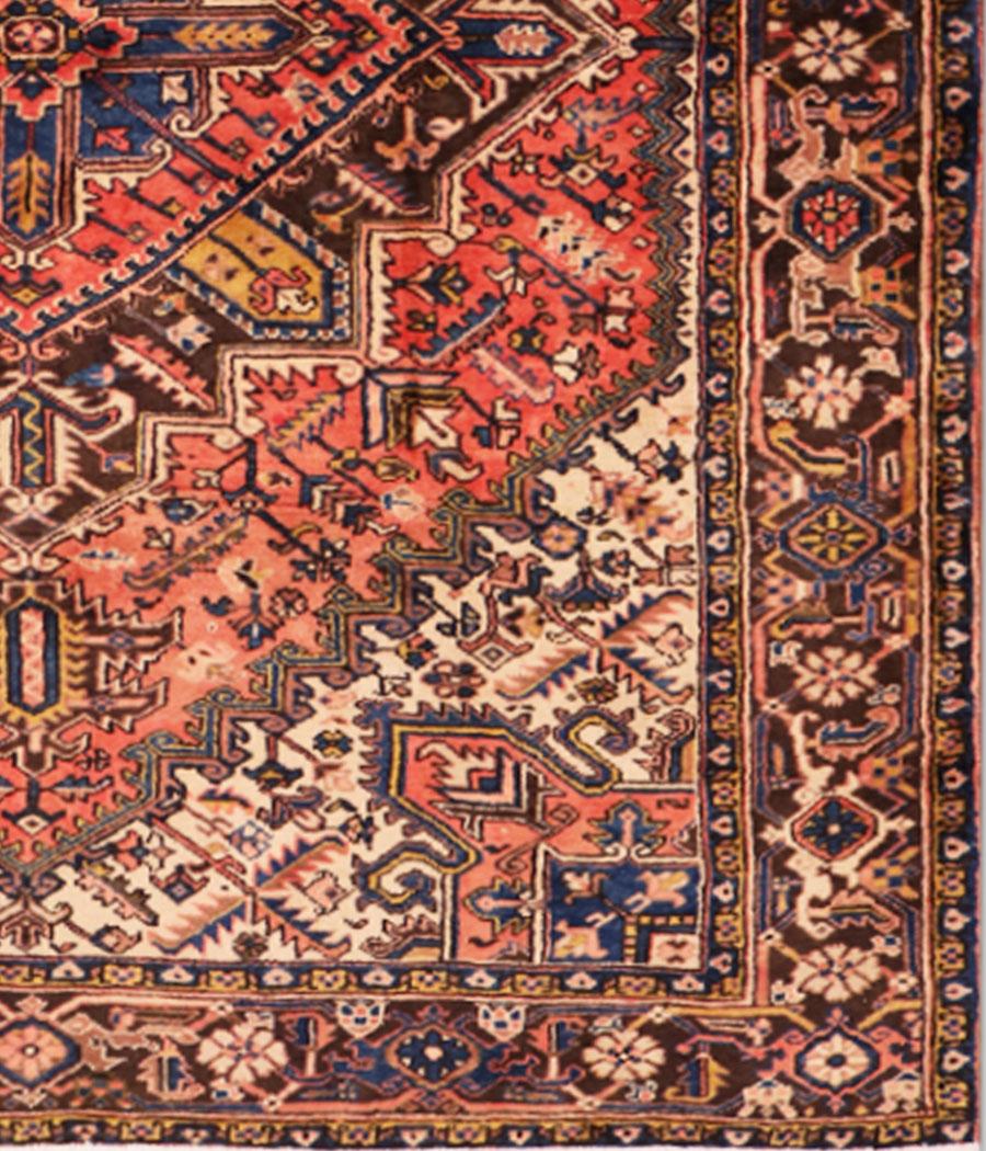 Alfombra persa heriz de lana y hecha a mano n 802 alfopersia for Alfombra persa azul