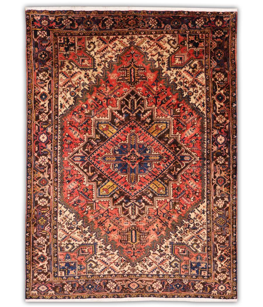 Alfombra persa heriz de lana y hecha a mano n 802 alfopersia - Alfombras hechas a mano con lana ...