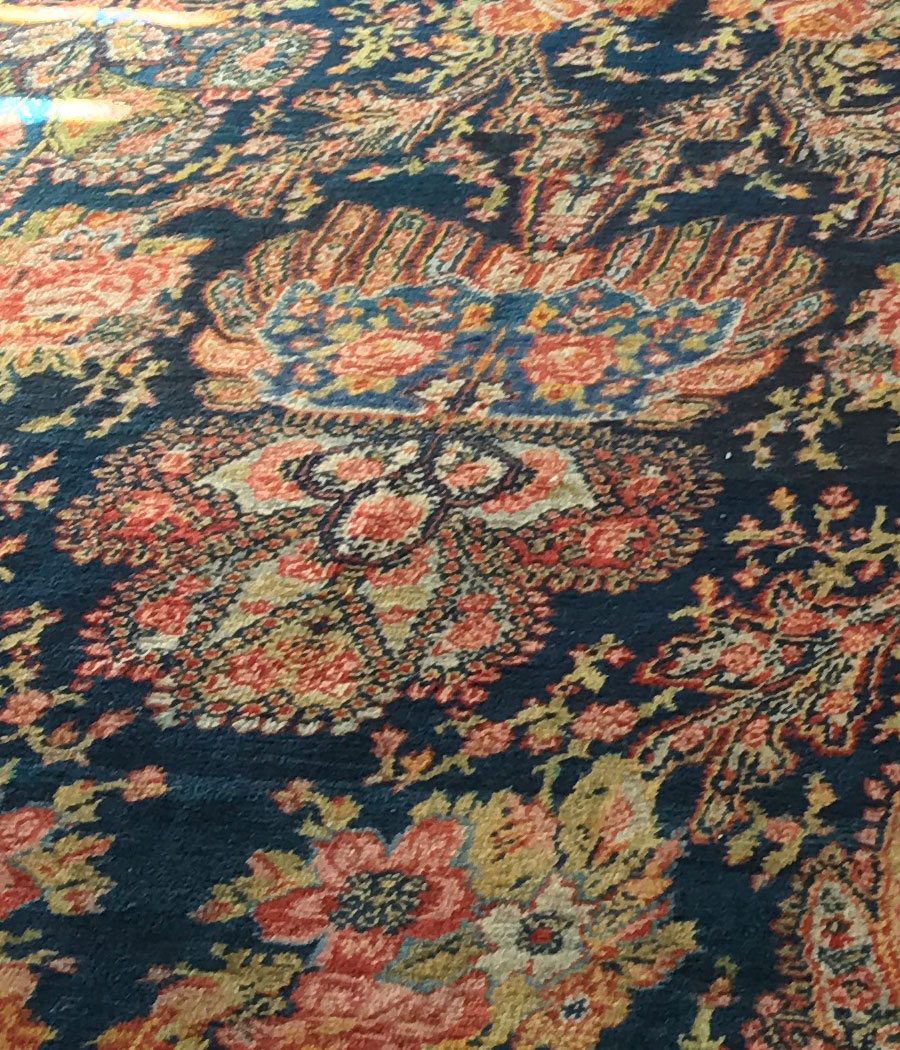 Alfombra persa antigua alfopersia for Alfombra persa azul
